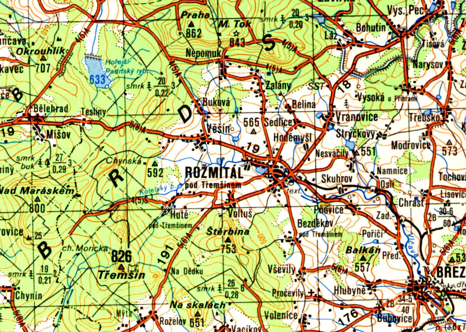 Topograficke Mapovani Naseho Uzemi Ve 20 Stoleti